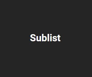 Sublist